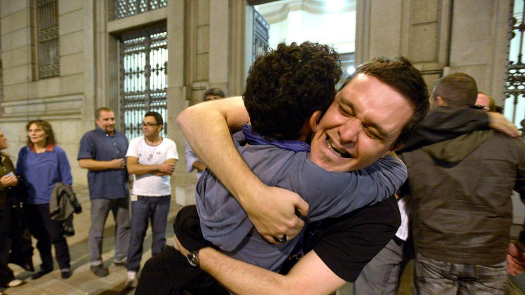 Celebraciones en Uruguay tras la aprobación en el Congreso del matrimonio homosexual