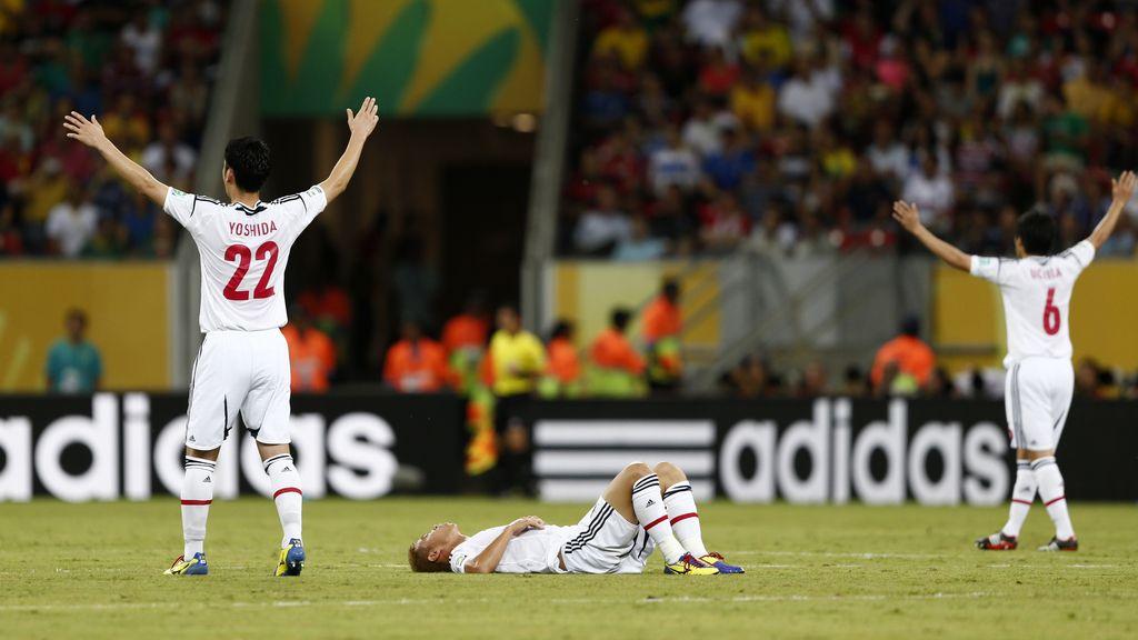 Italia 4-3 Japón, en imágenes