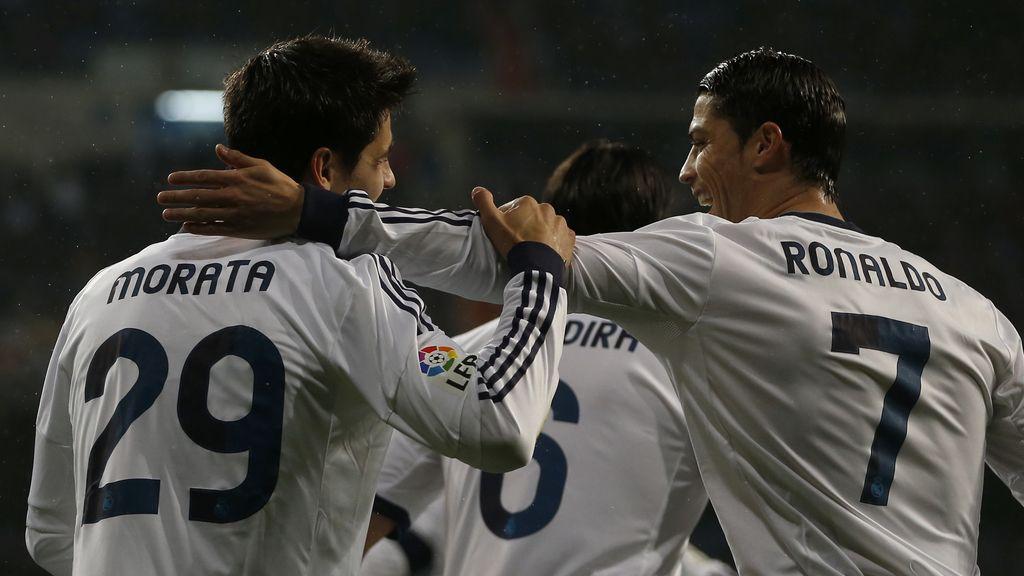 Álvaro Morata y Cristiano Ronaldo