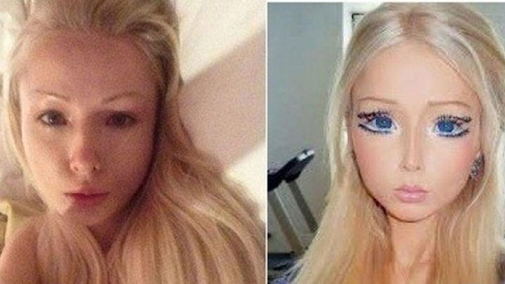 La Barbie humana, sin maquillaje