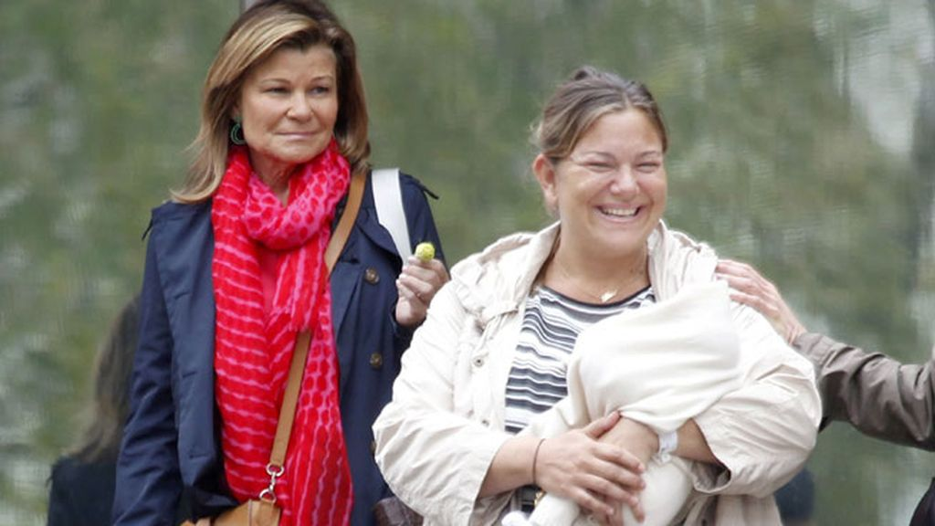 Solo faltó la tía, Carla Goyanes, y su hijo Carlitos