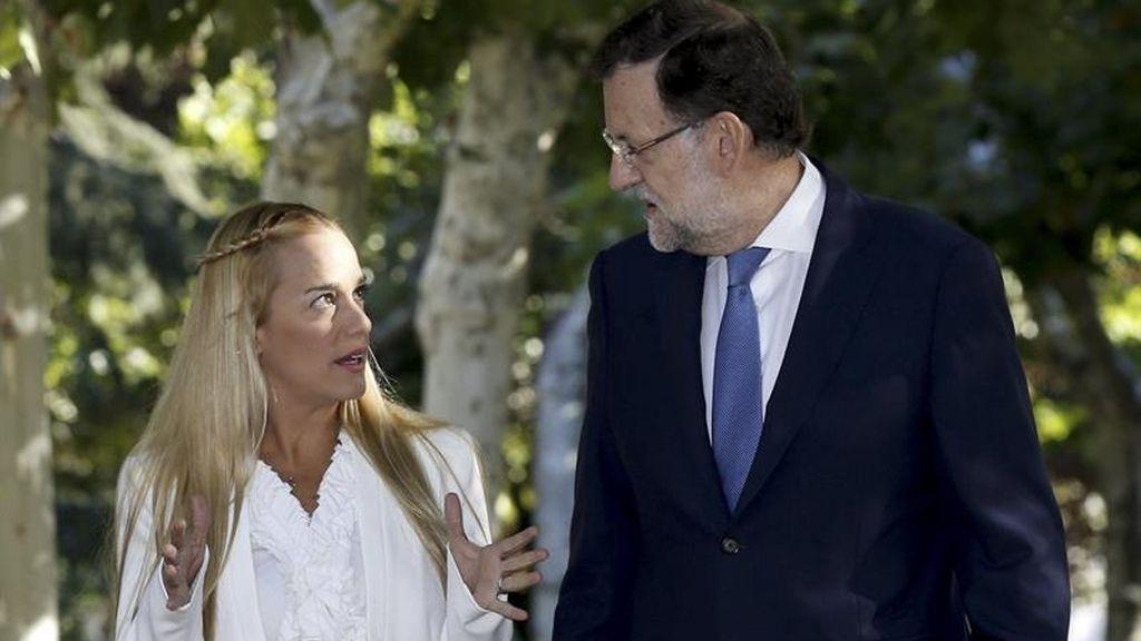 Mariano Rajoy recibe en Moncloa a Lilian Tintori