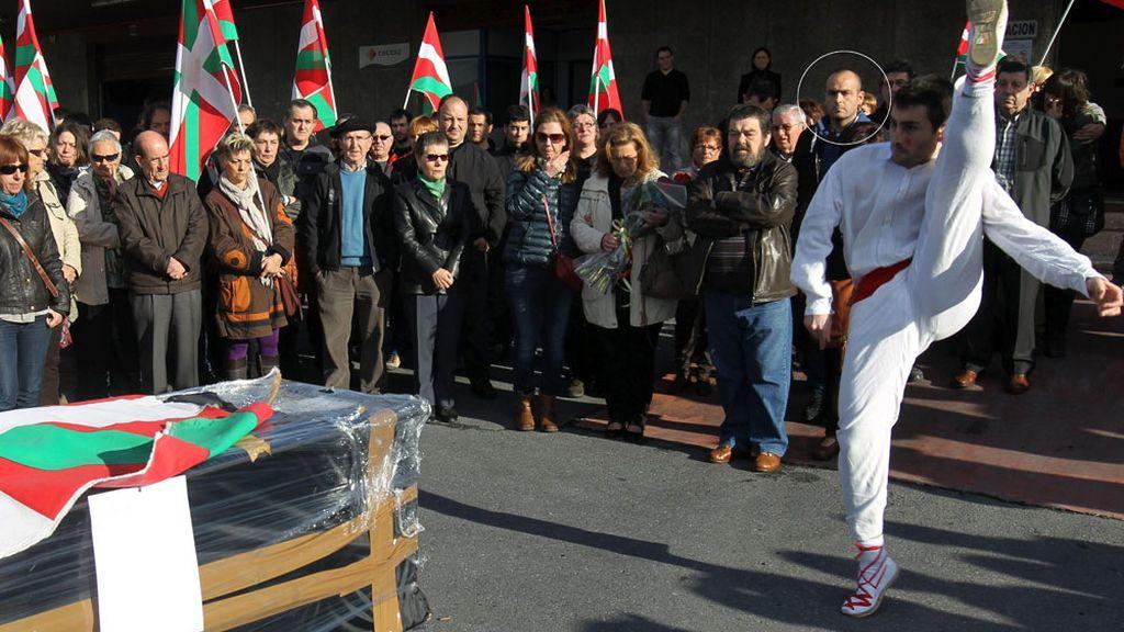 Iker Rodrigo Basterrechea durante el homenaje a Thierry