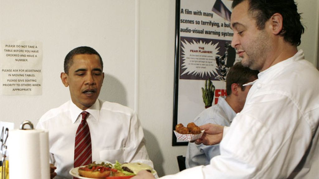 Obama sale a por una hamburguesa