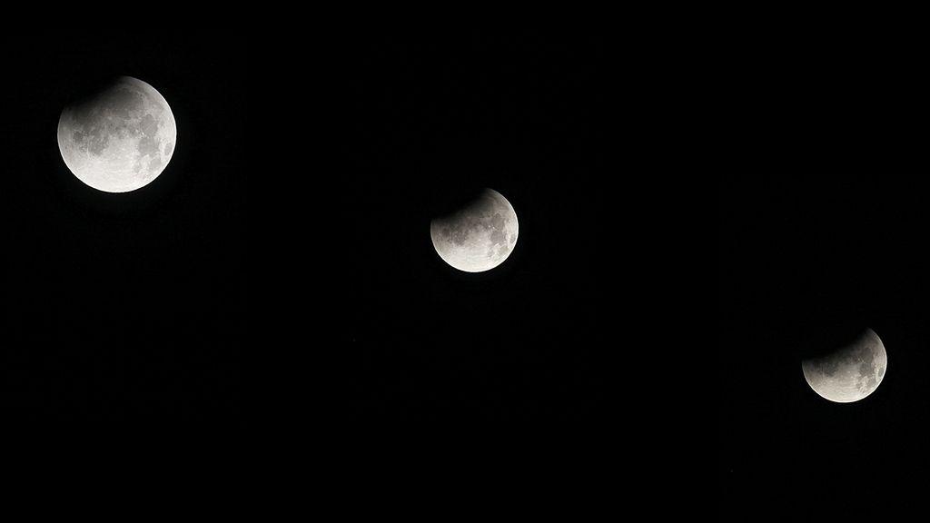 El eclipse desde el Teide