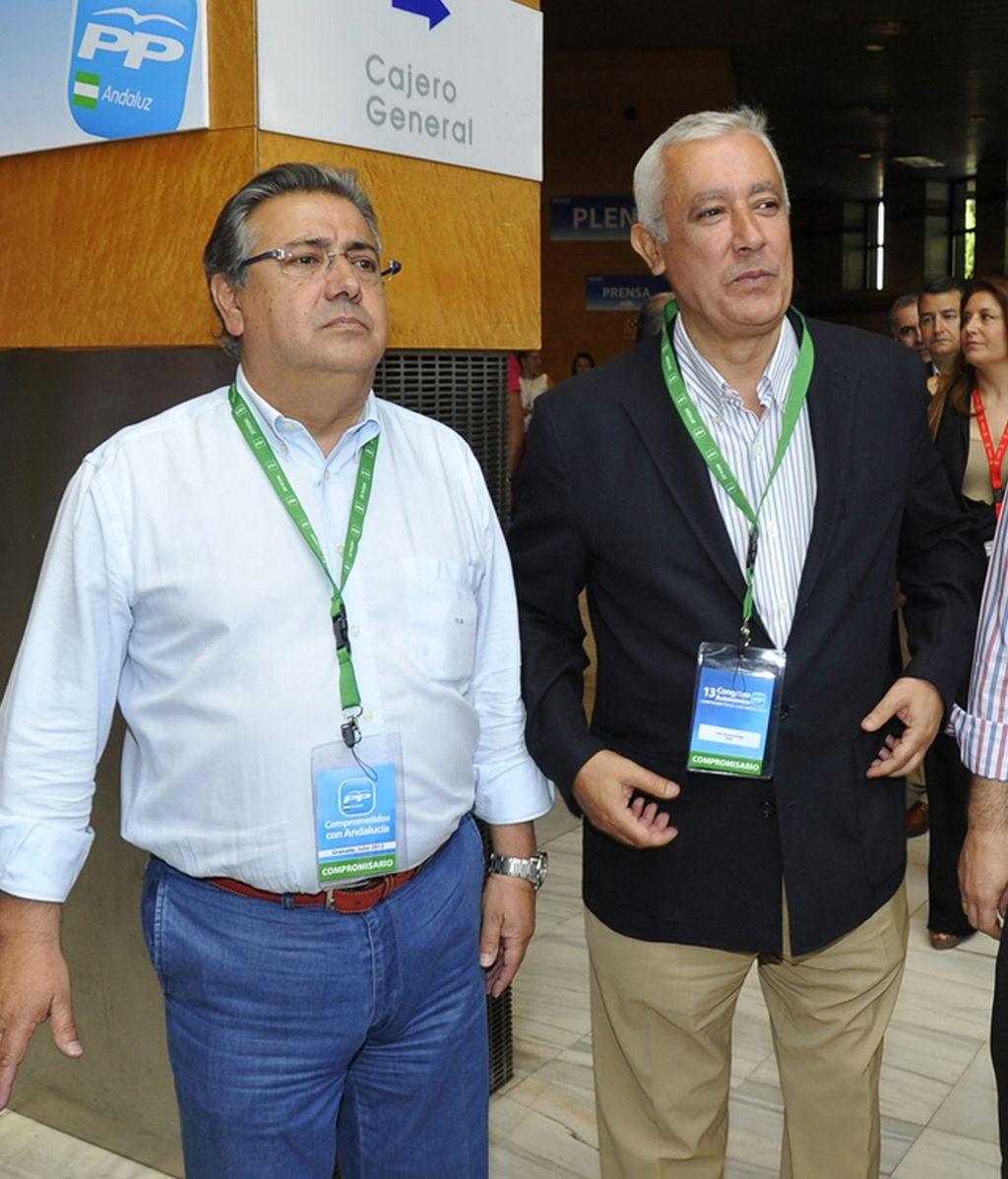 Juan Ignacio Zoido (izda) y Javier Arenas (dcha)