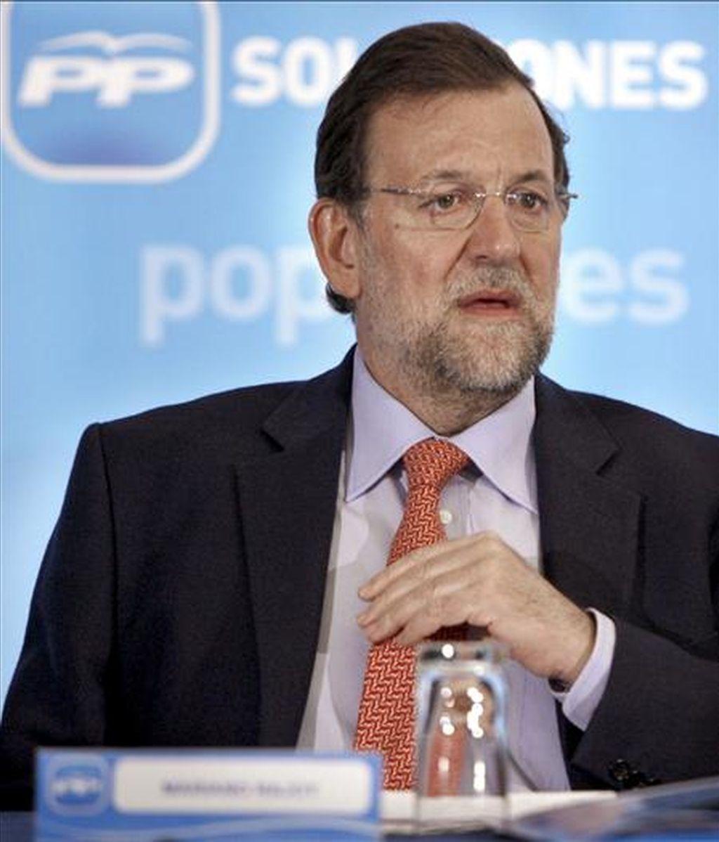 El presidente del Partido Popular, Mariano Rajoy. EFE/Archivo