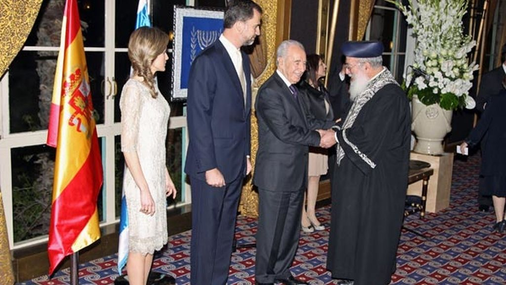 Con el presidente de Israel
