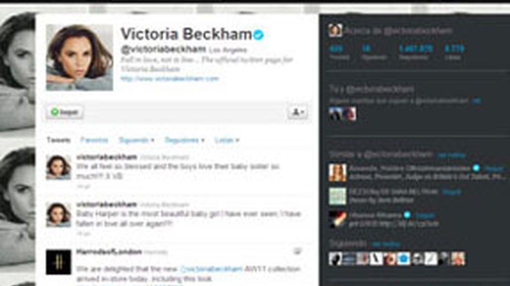 Victoria Beckham feliz con su reciente maternidad