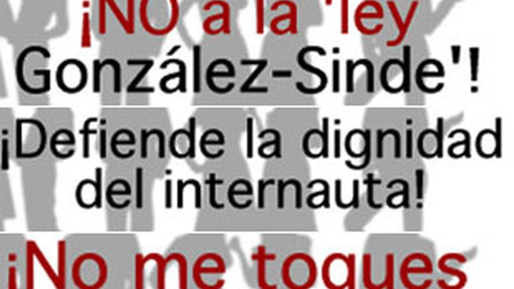 Se multiplican las manifestaciones en la Red contra la polémica ley. Foto: Informativos Telecinco.