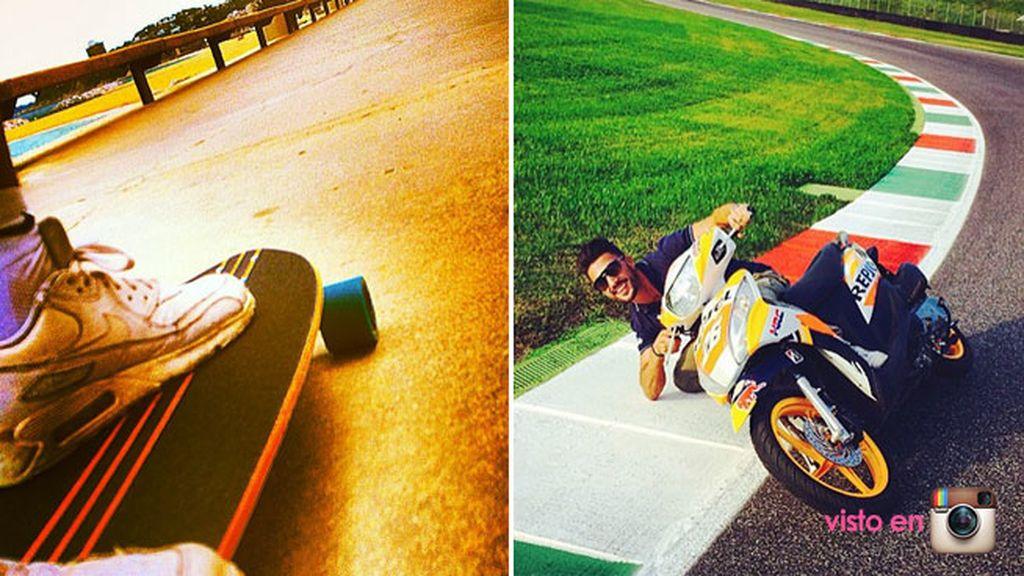 Con él también comparte su gusto por las motos y por el skateboard
