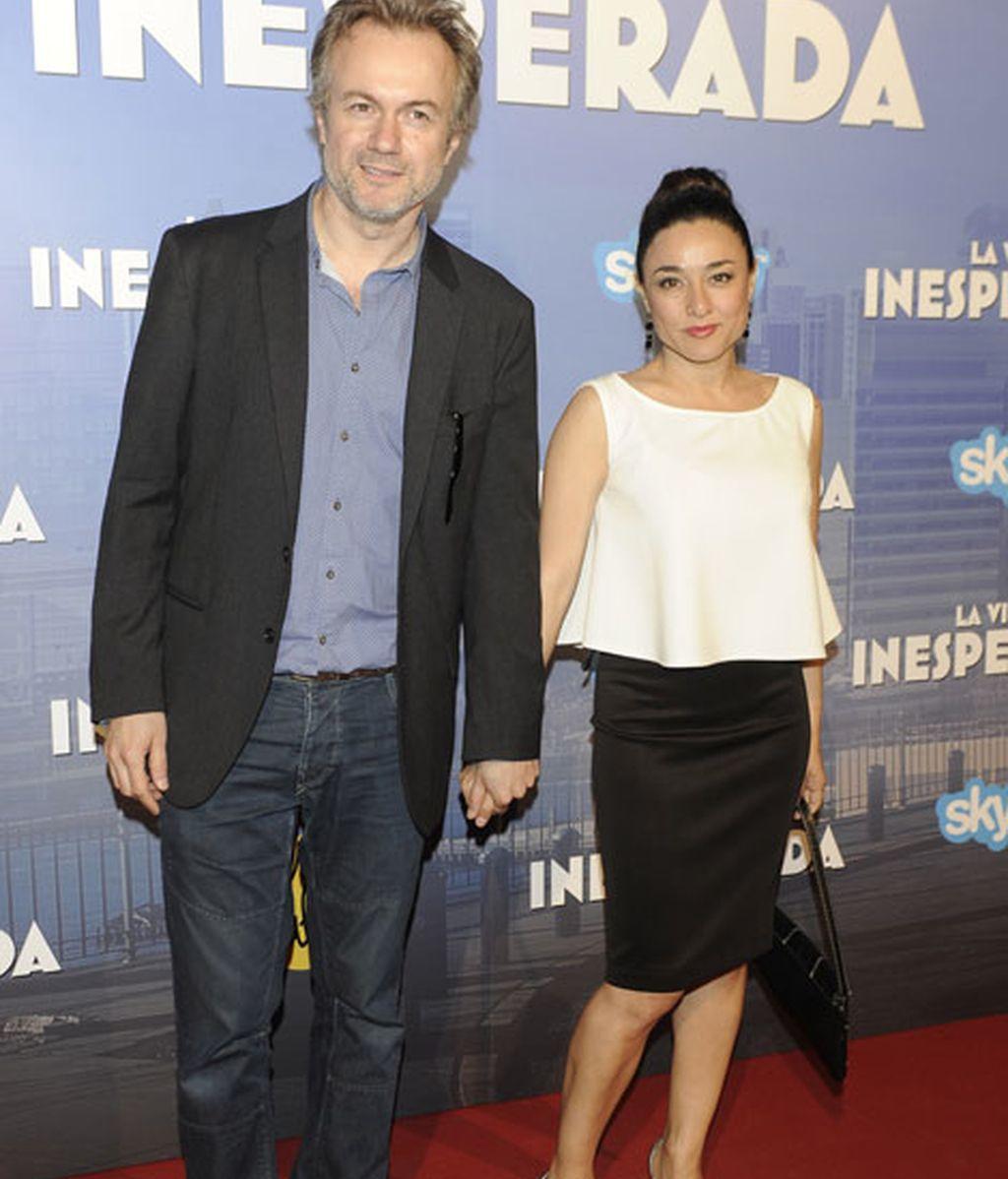 Tristán Ulloa y su pareja, Carolina Roman