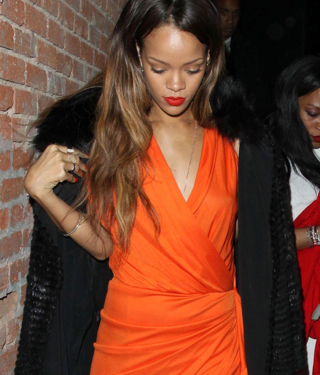 Rihanna ignora a Chris Brown el día de los enamorados