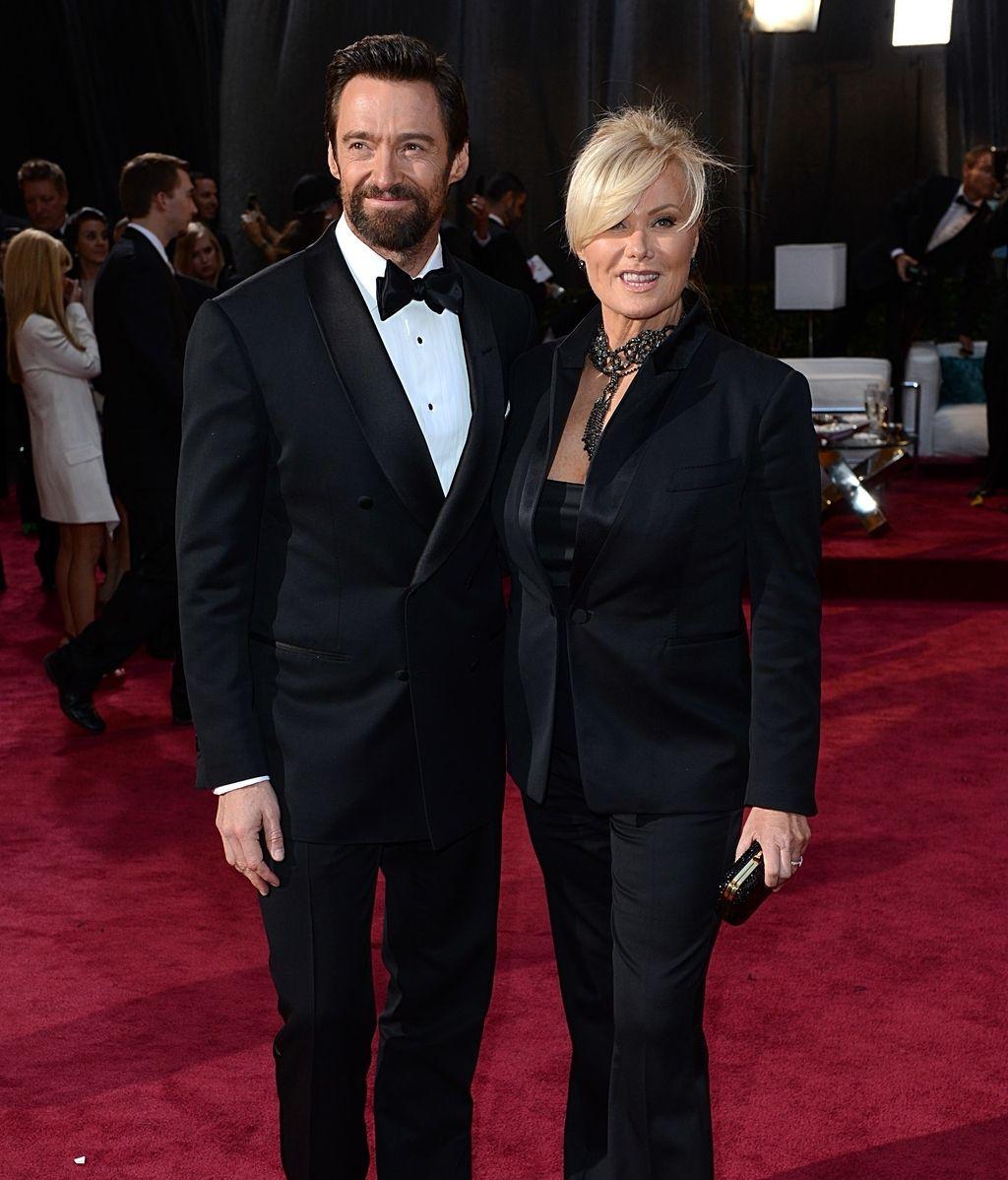 Hugh Jackman y Deborra-Lee Furness, en la alfombra roja de los Oscar