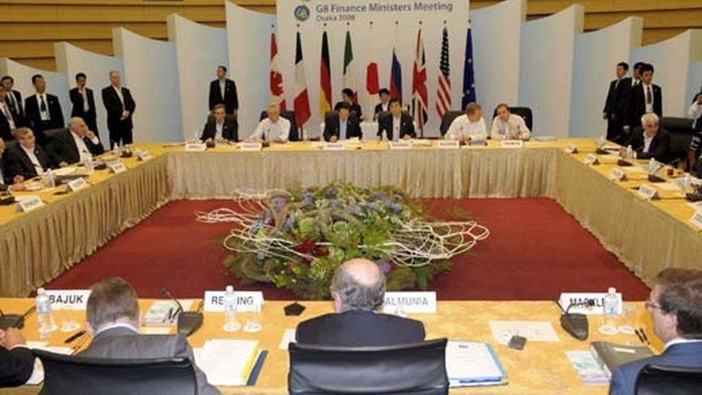 Aspecto general de la reunión de los ministros de Finanzas del Grupo de los 8 en el Centro Internacional de Convenciones de Osaka (Japón). Foto: EFE