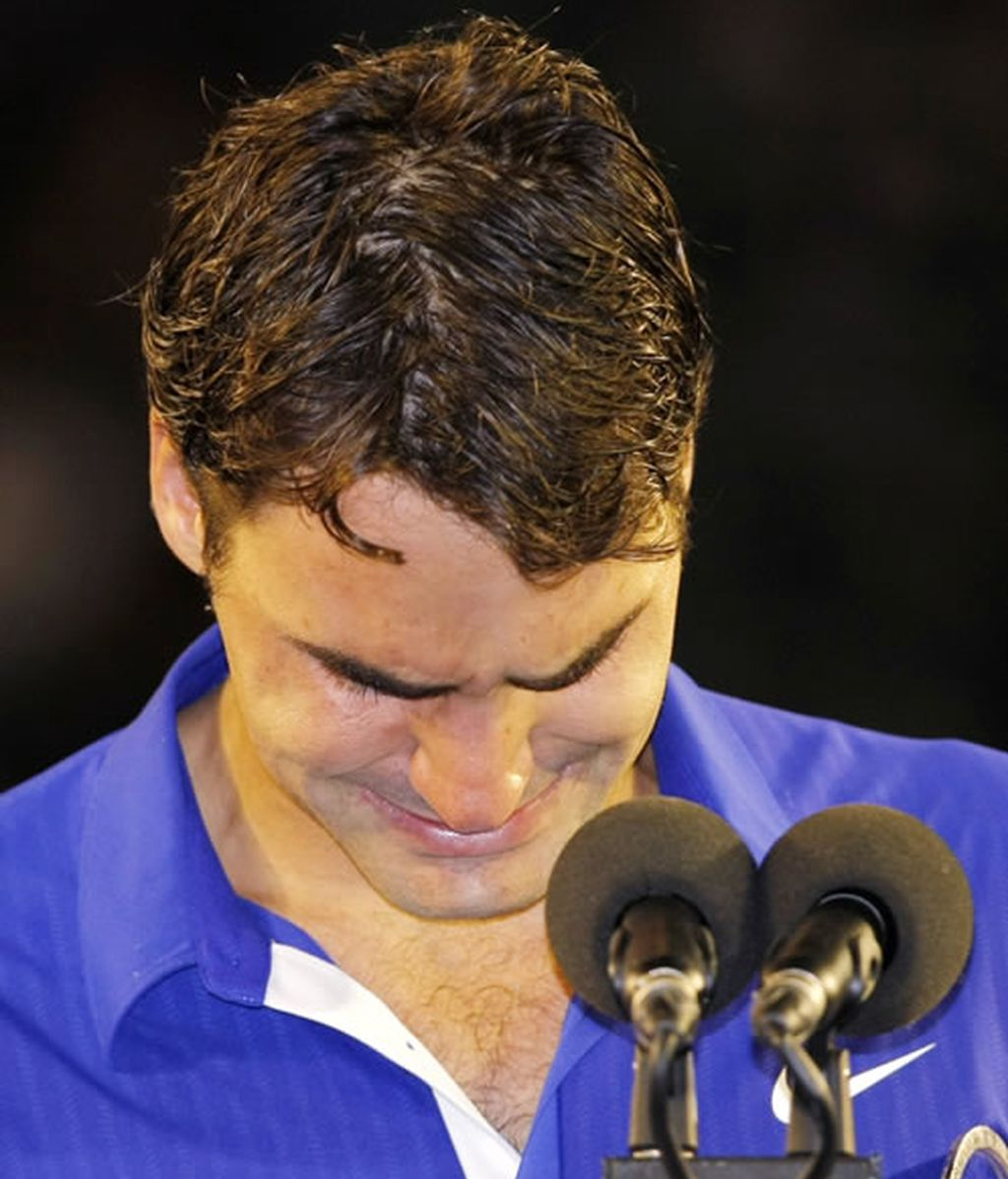 Las lágrimas de Roger Federer tras perder la final del Open de Australia