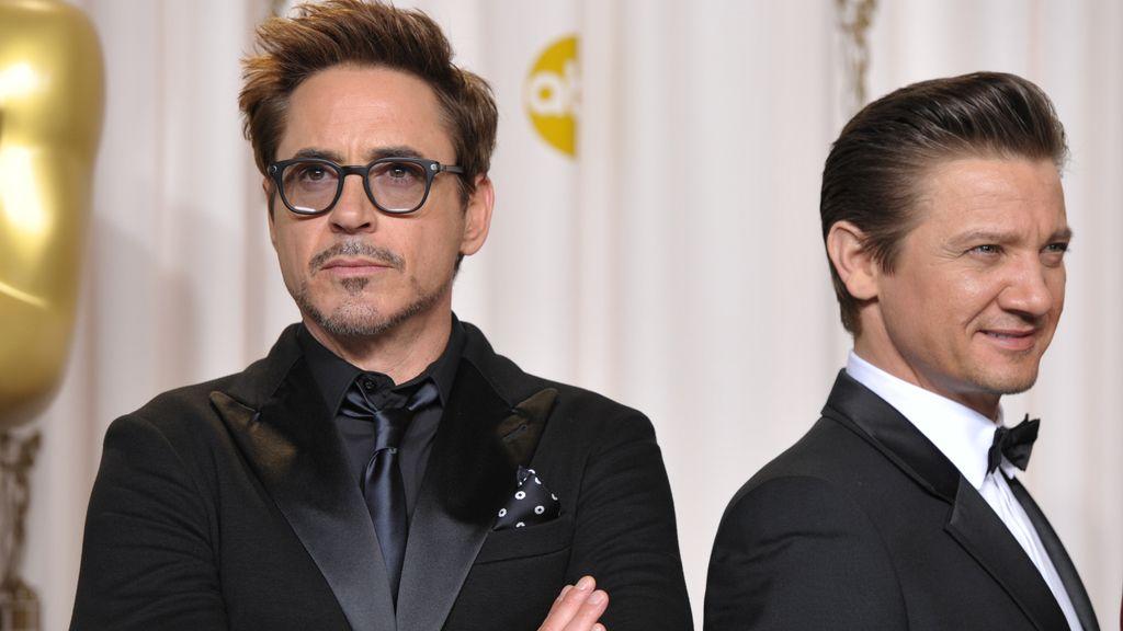 Robert Downey Jr., left, and Jeremy Renner