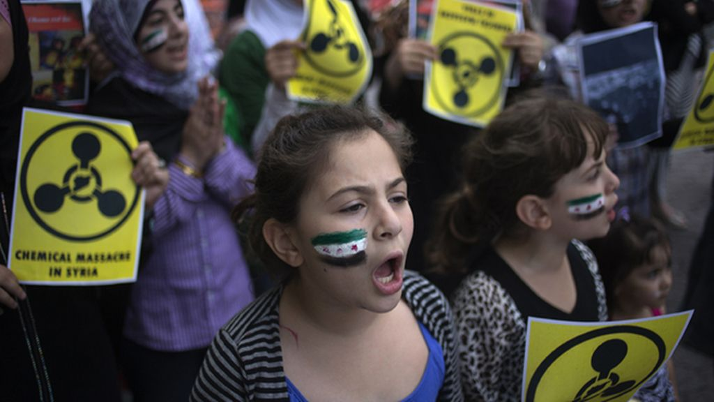 Activistas sirios intentan entregar a la ONU pruebas del ataque químico