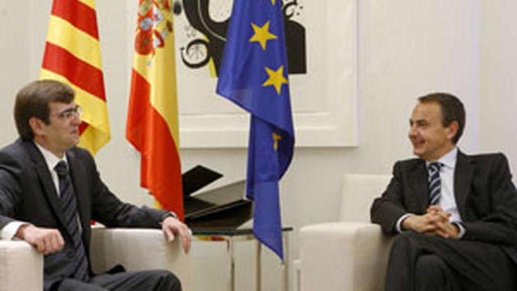 Antich y Zapatero durante el encuentro en La Moncloa. Foto:EFE