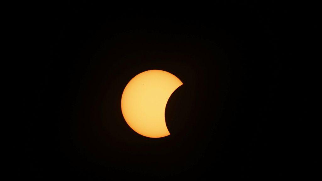El eclipse visto desde Noruega