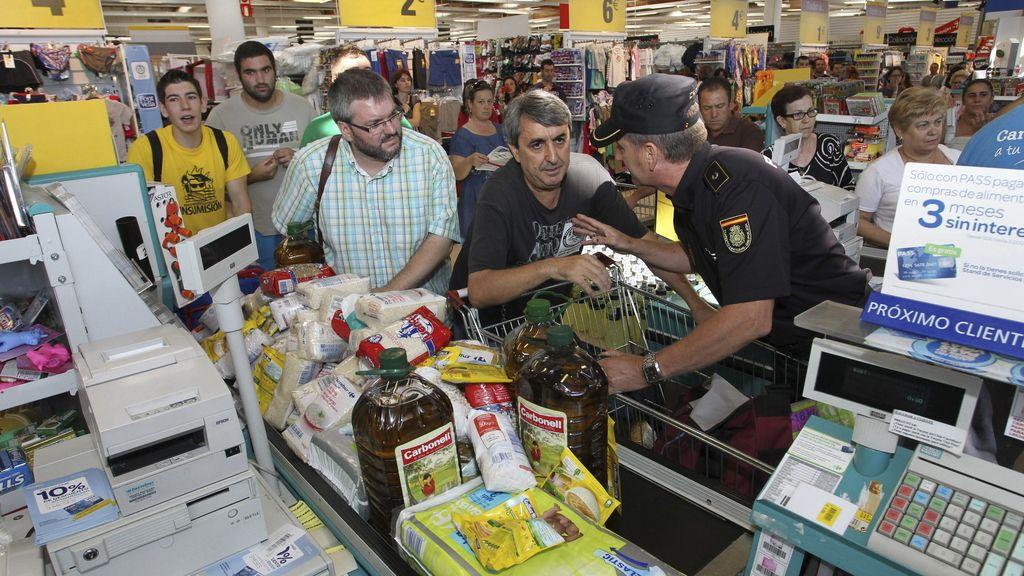 Asalto a un supermercado en Mérida