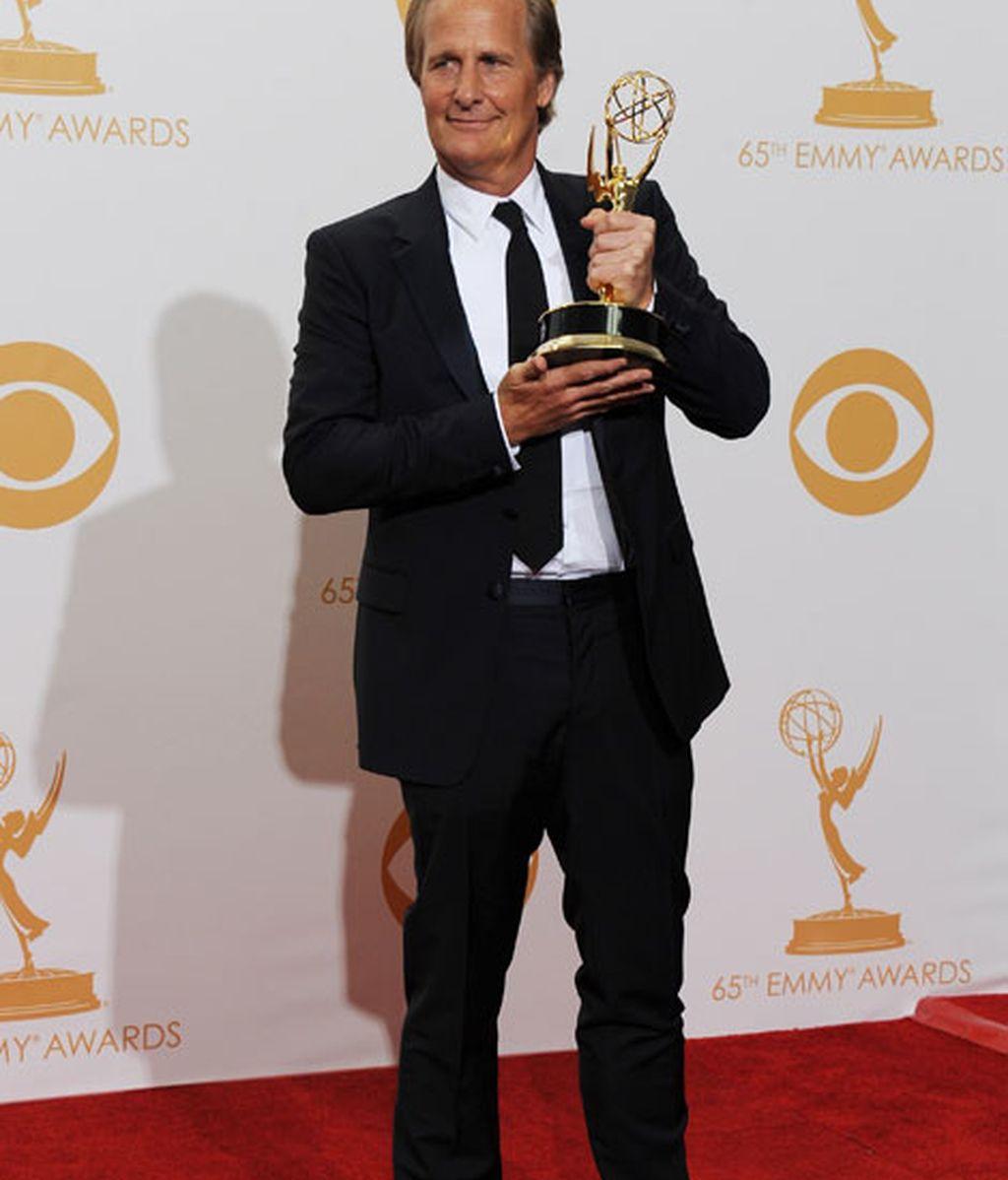 Jeff Daniels se llevó el premio a mejor protagonista dramático por 'The Newsroom'
