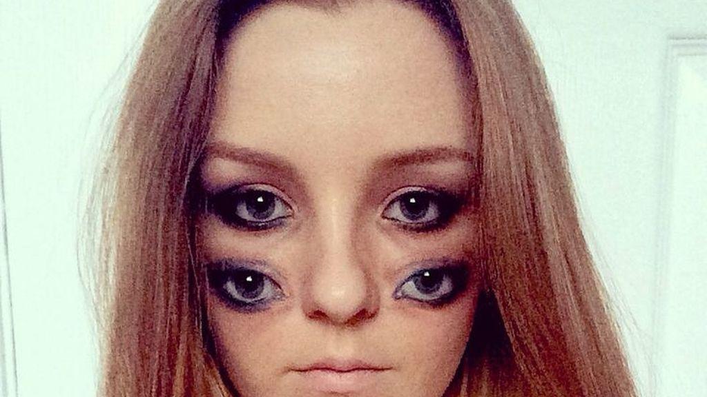 Belinda Maines y sus dos pares de ojos