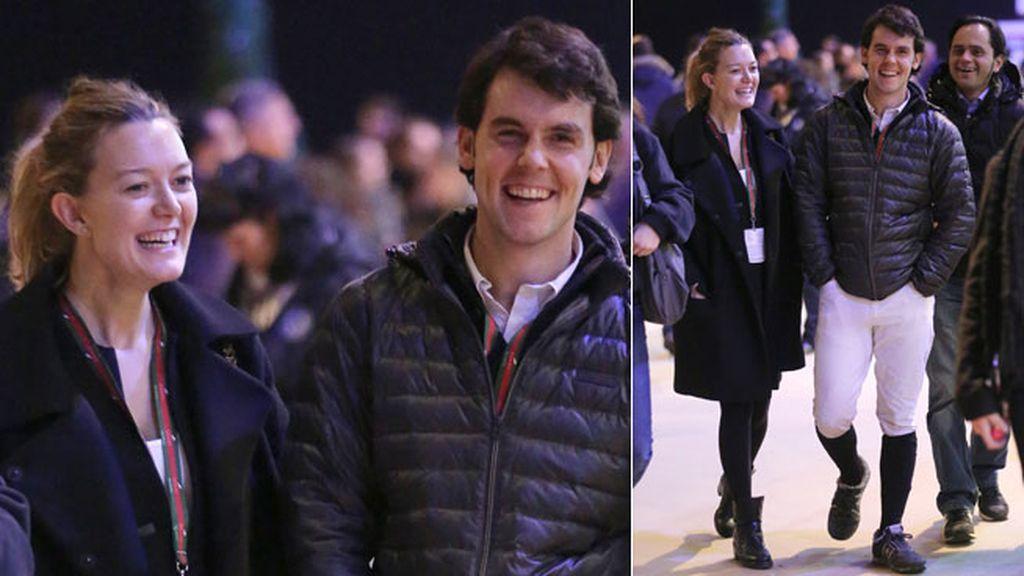 La pareja de españoles no paró de lanzarse besos y miradas cómplices