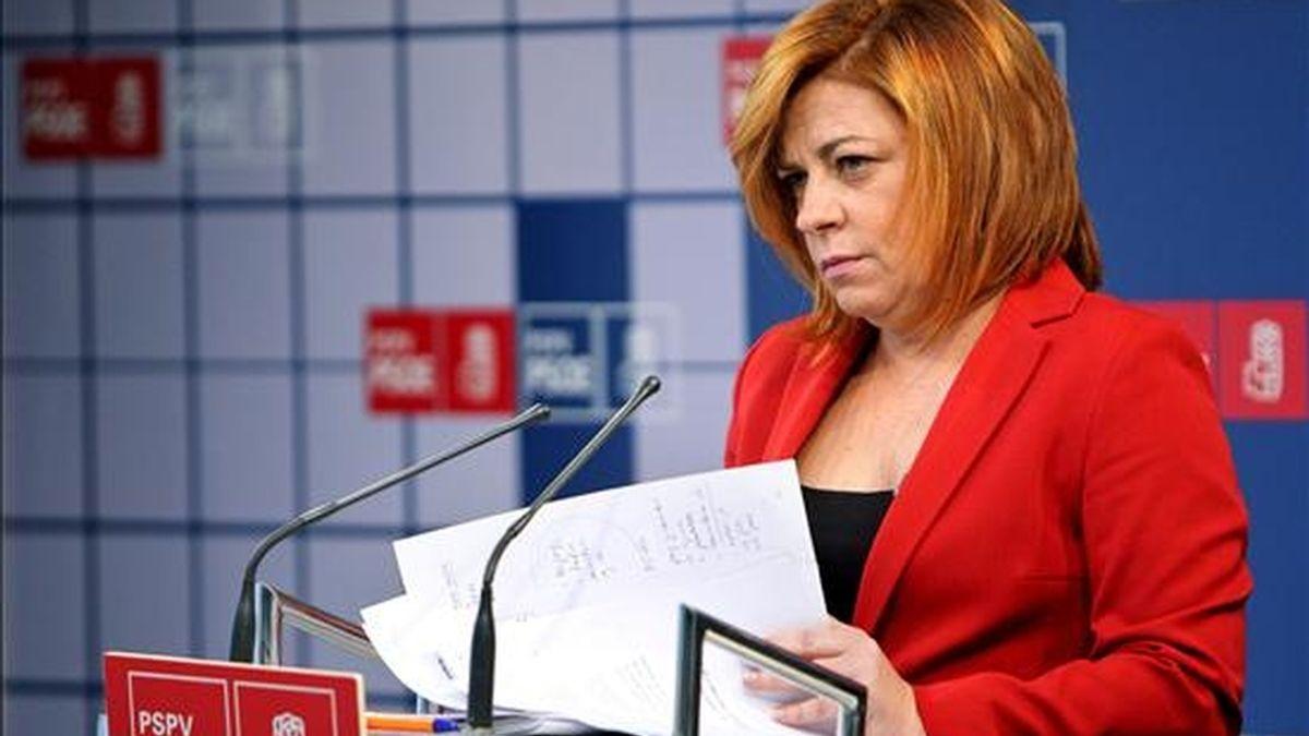 La vicecoordinadora y portavoz electoral del PSOE, Elena Valenciano. EFE/Archivo