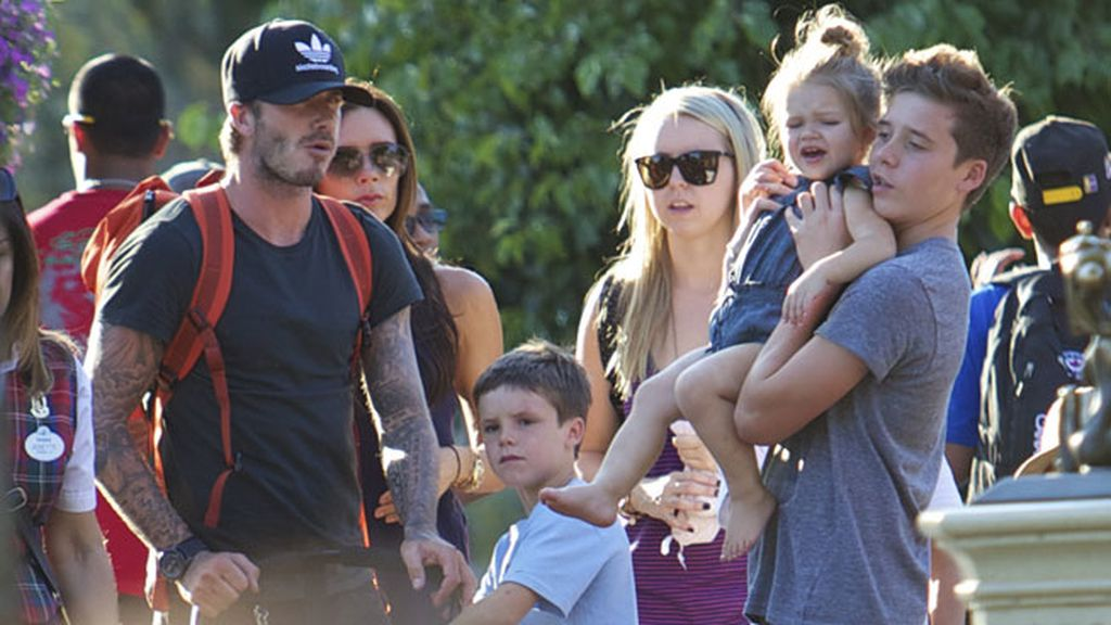 Los Beckham se escapan al parque de atracciones Disney