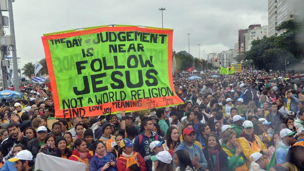 El Papa en Copacabana. Foto.EFE