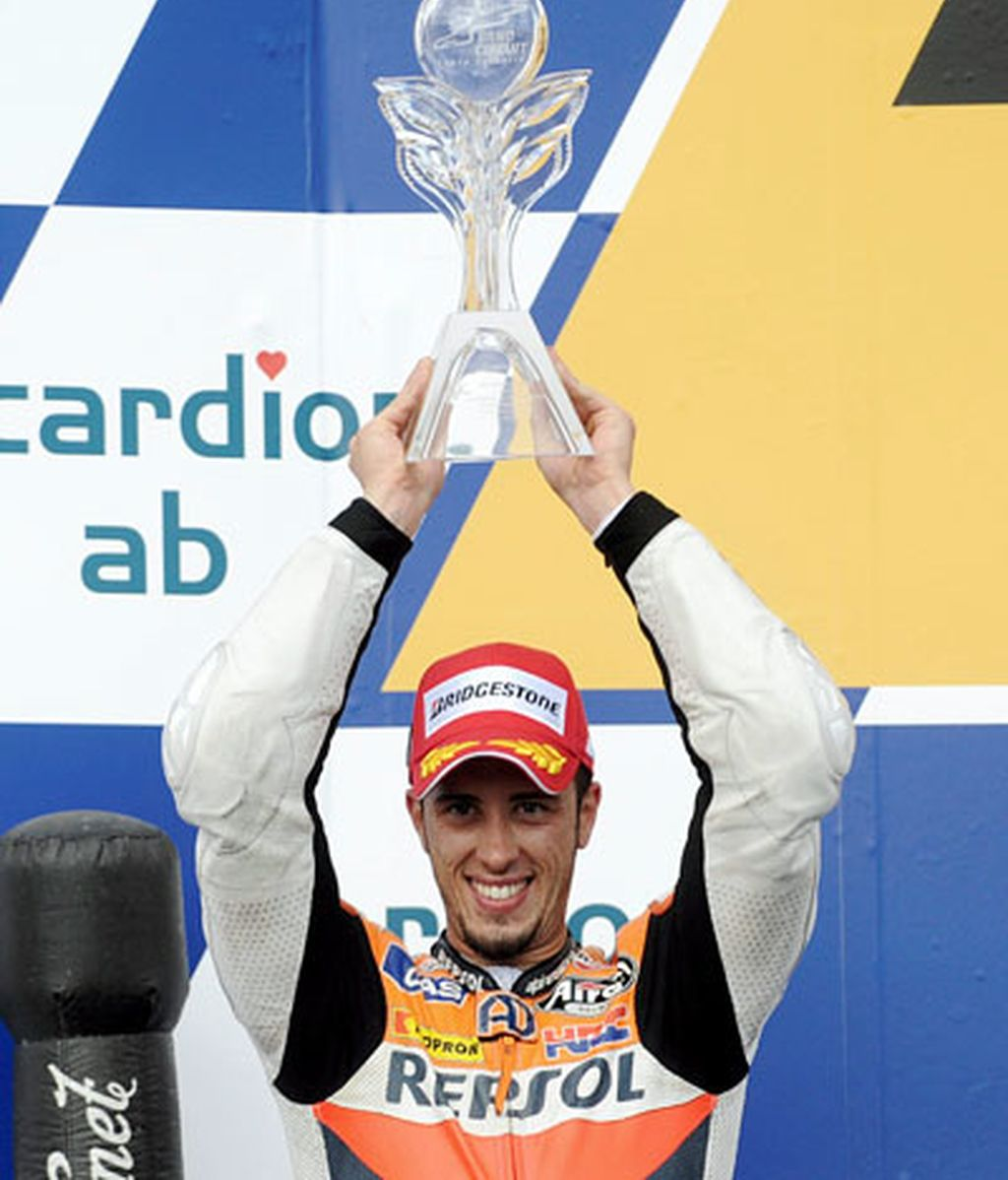 Andrea Dovizioso celebra el segundo puesto