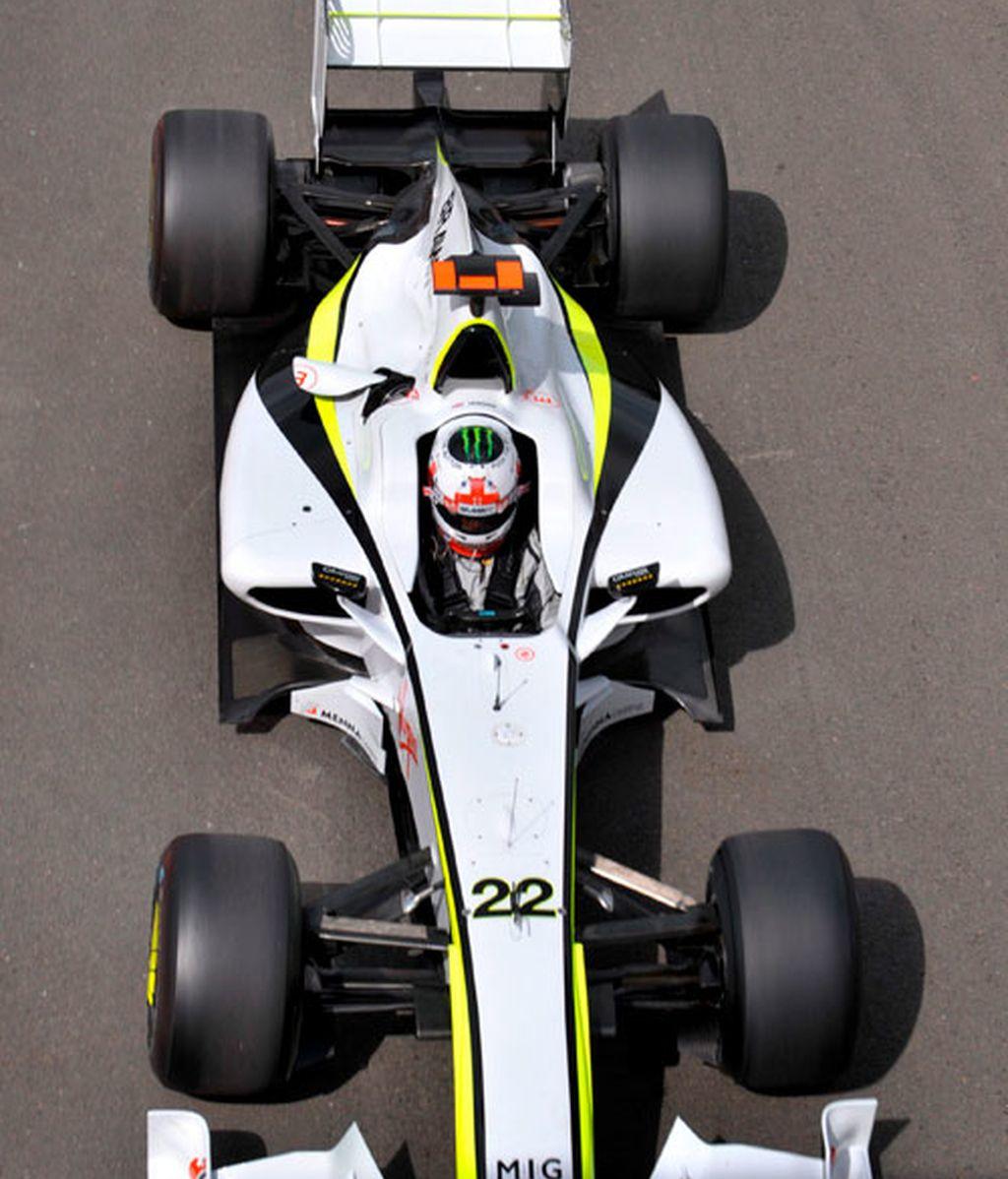 Jenson Button conduciendo su monoplaza