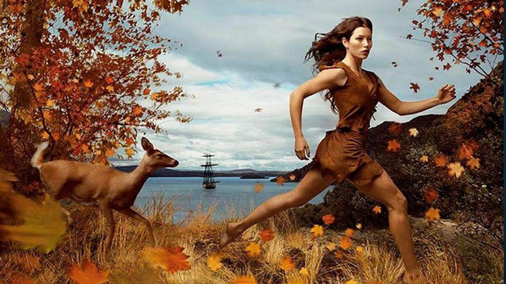 Jessica Biel se convierte en 'Pocahontas'