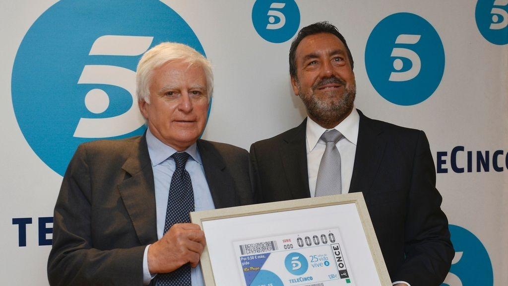 La ONCE homenajea a Telecinco en su 25º aniversario con un cupón conmemorativo