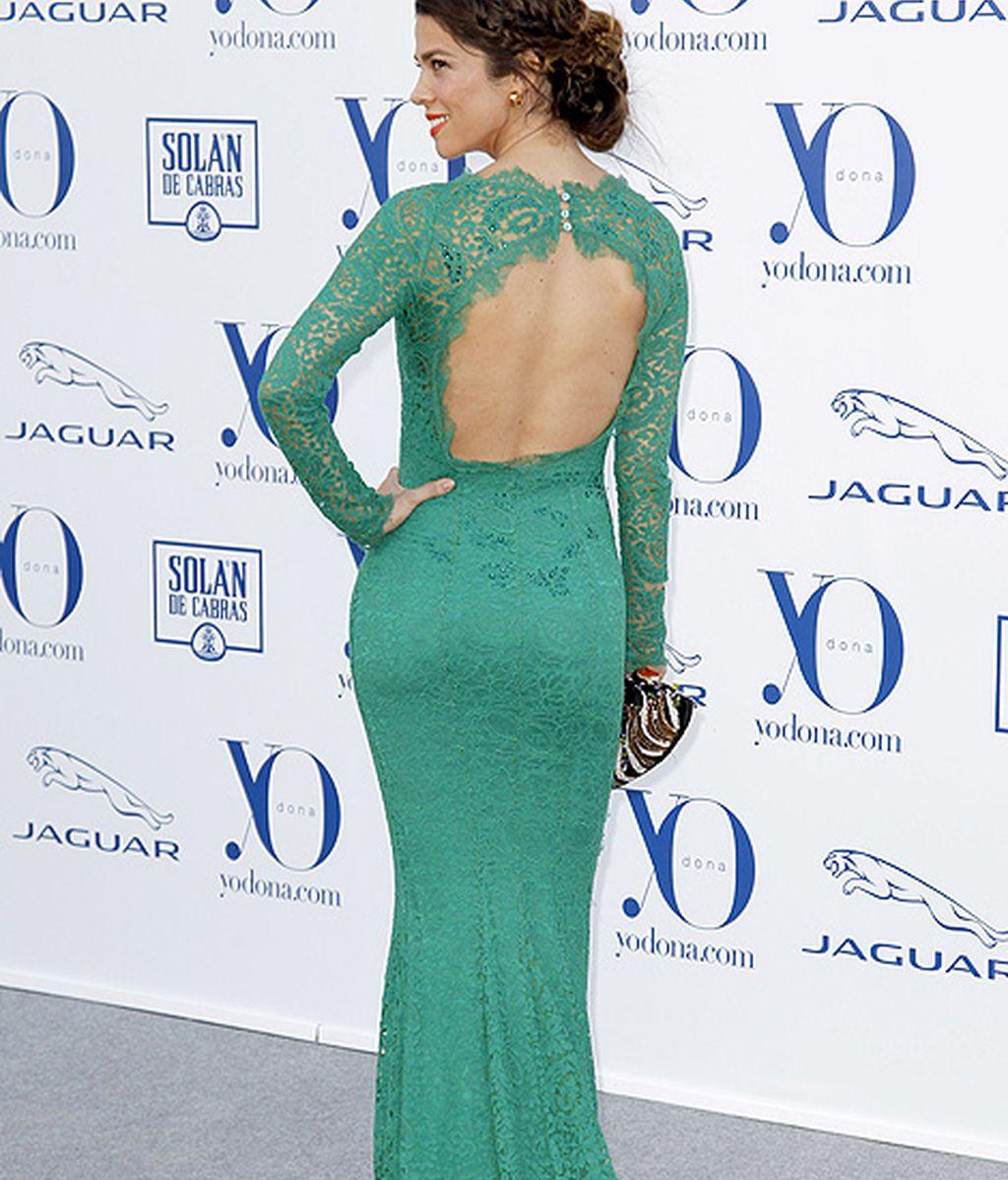 Juana Acosta, espectacular de verde esmeralda