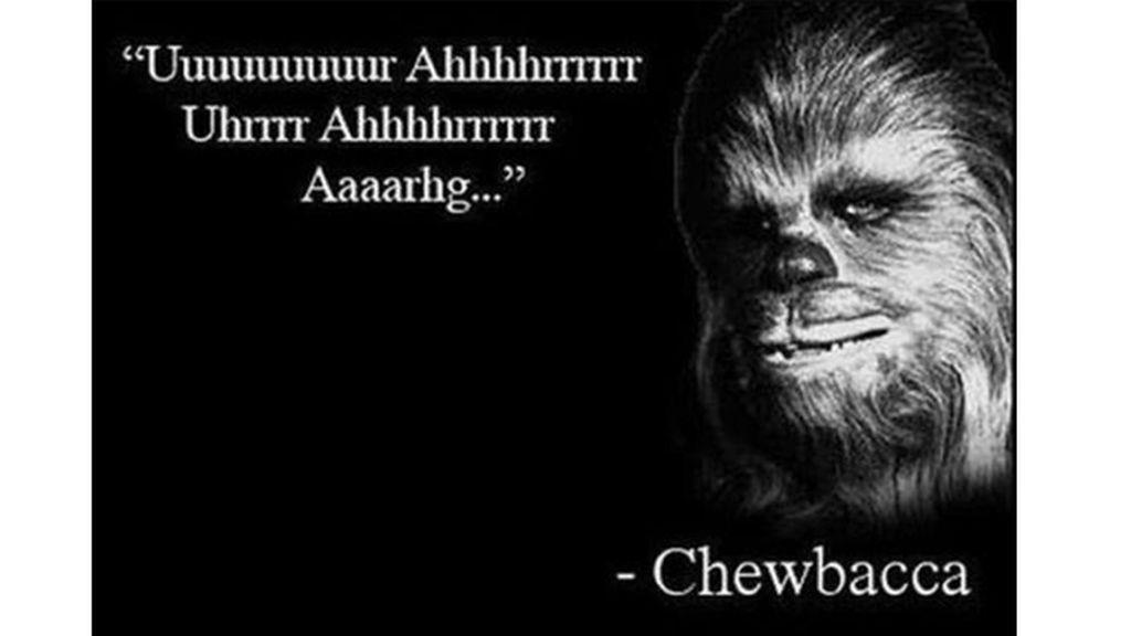 La sabiduría de Chewbacca