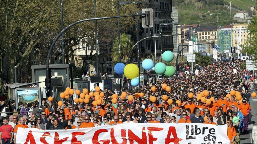 Manifestación en San Sebastián