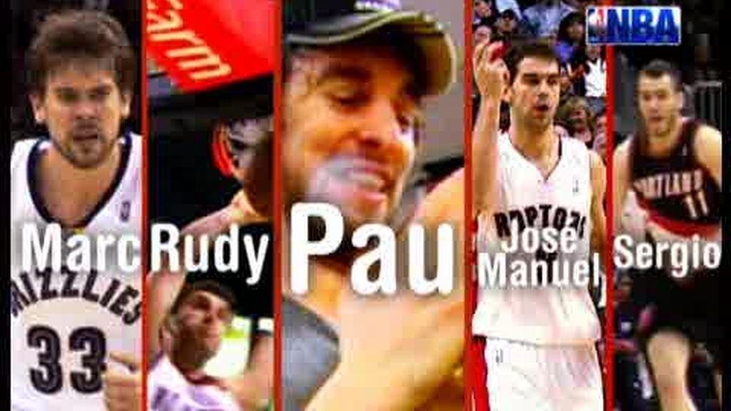 Promo NBA: Marc, Rudy, Sergio, José Manuel y... Pau