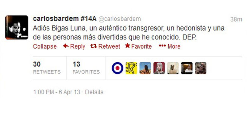 El mundo del cine homenajea a Bigas Luna en Twitter