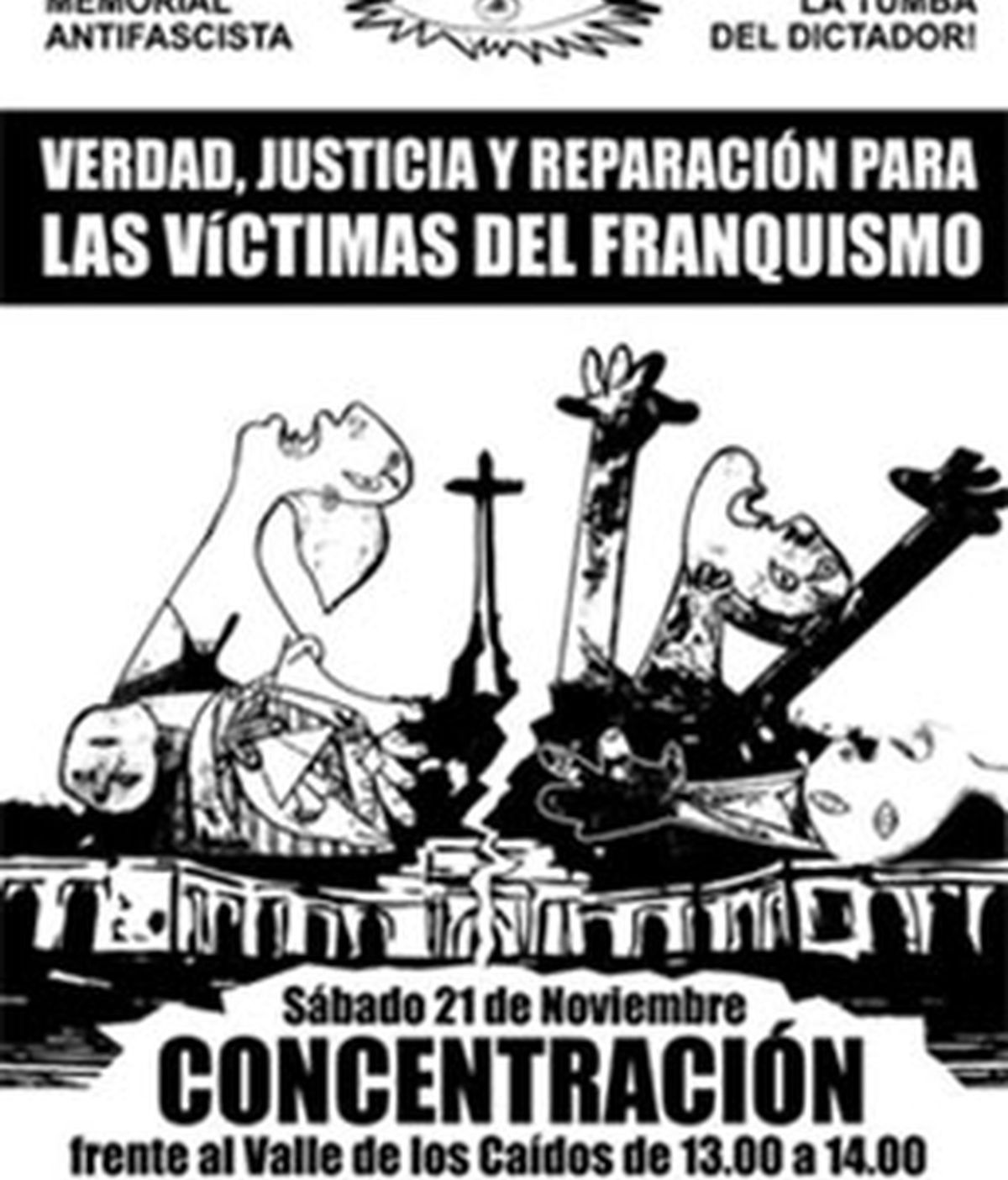 Cartel de la contramanifestación promovida por el Foro Estatal por la Memoria para este sábado