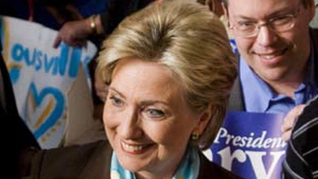 La senadora Hillary Clinton, durante la campaña. Foto: EFE