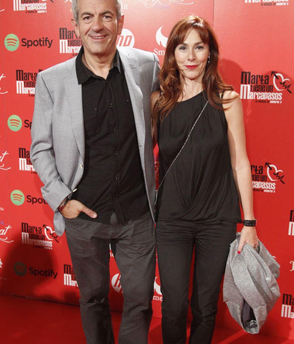Carlos Sobera acudió con su mujer Patricia Santamaría