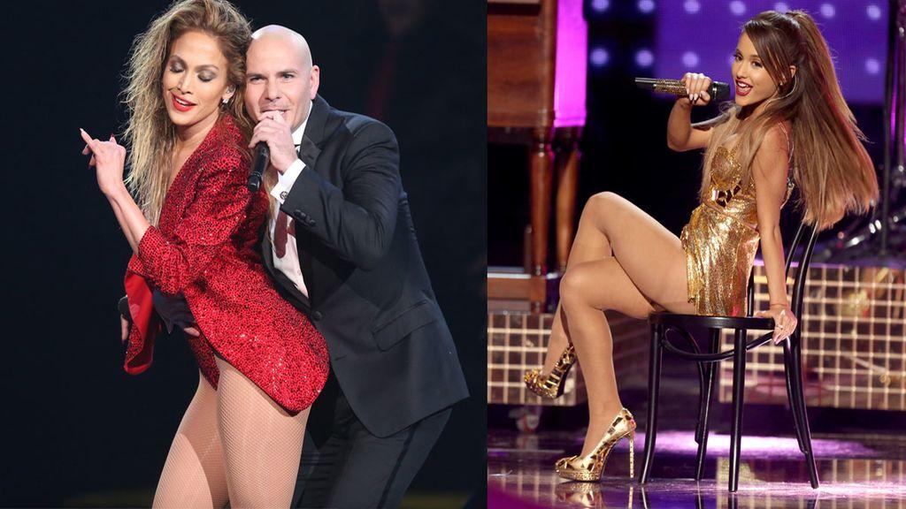 JLo y Ariana criticadas por sus actuaciones provocativas