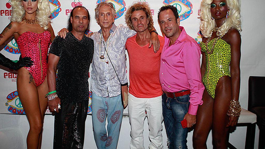 Nacho Cano en la fiesta 'Flower Power' de Ibiza