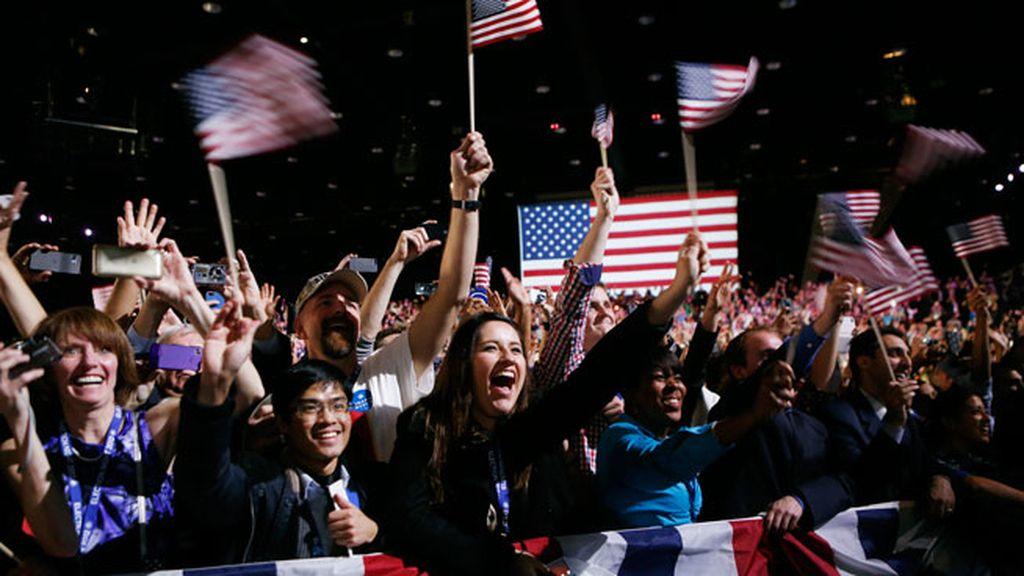 Los demócratas celebran la victoria
