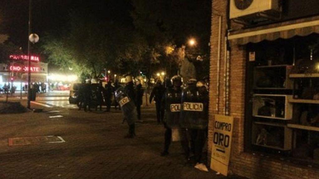 Altercados en el madrileño Barrio del Pilar. Foto: Twitter @AlvaroEscarcha