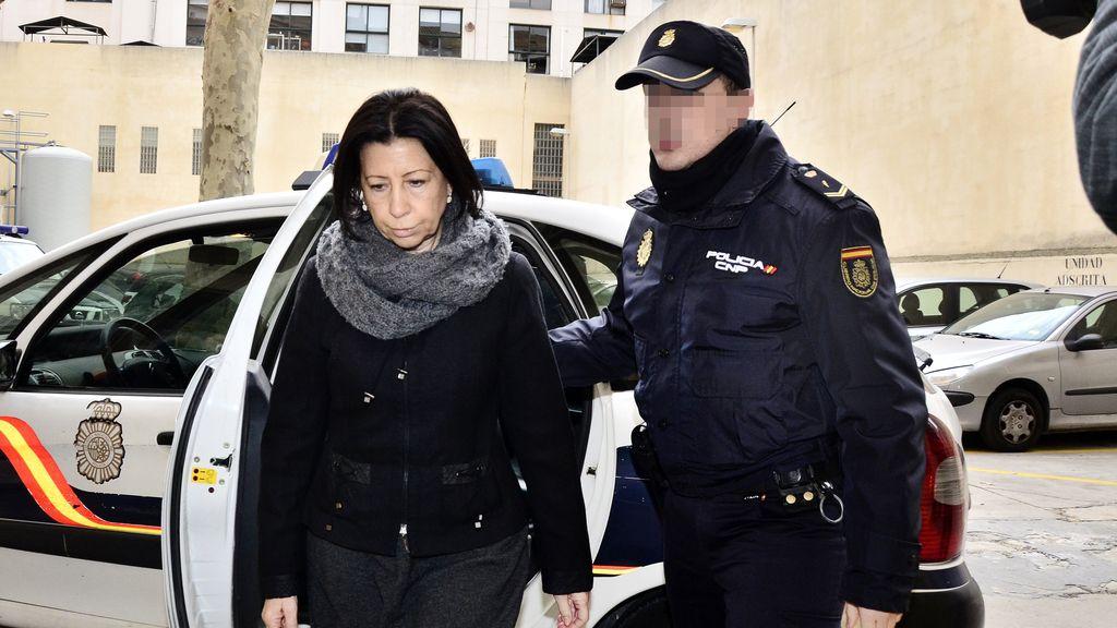 Maria Antònia Munar, a su llegada a los jugados