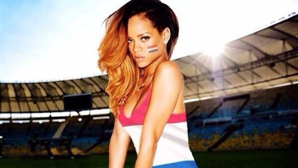 Rihanna y su aficción por el fútbol
