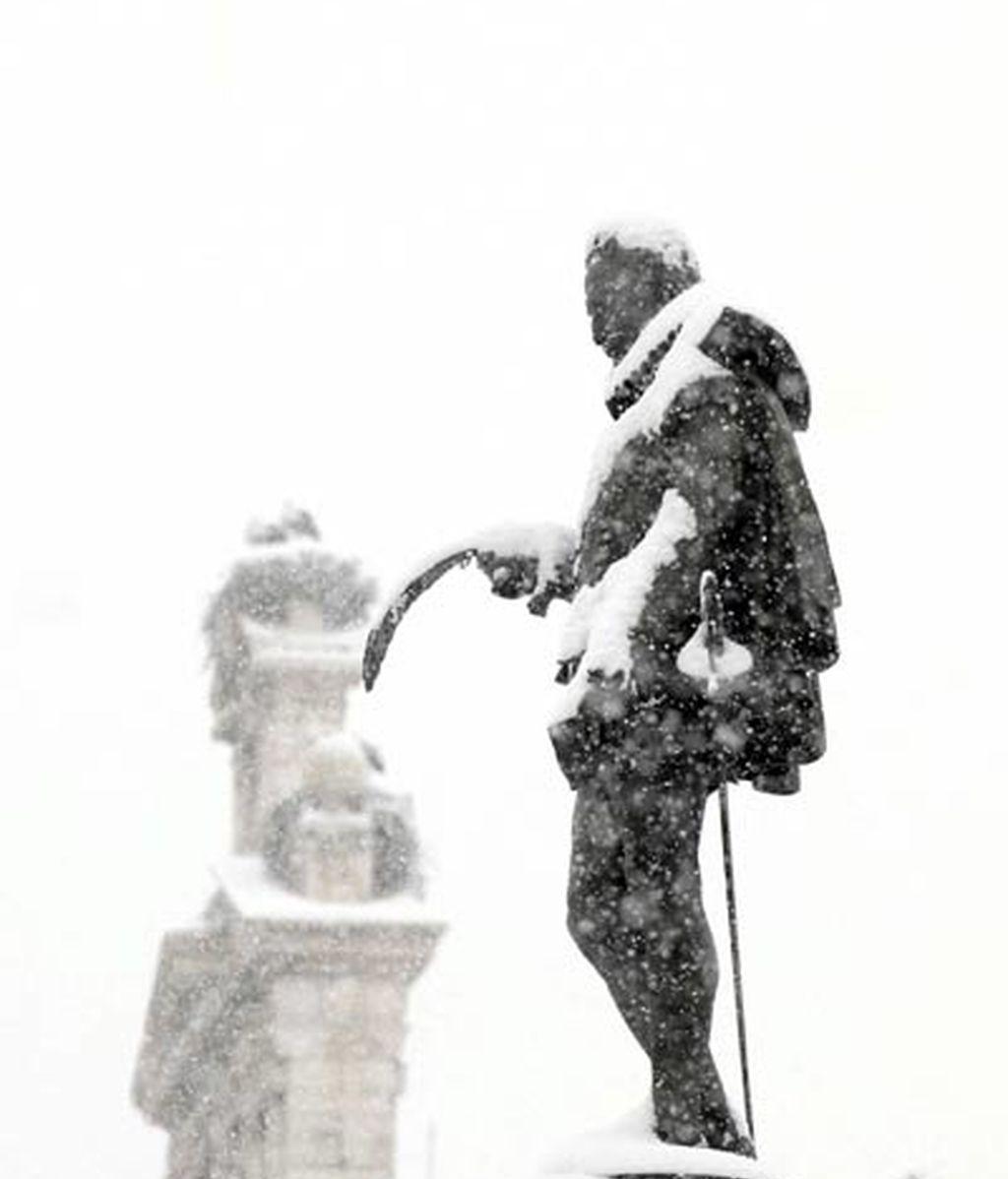 Cervantes bajo la nieve